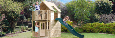 TP Toys Loft Wooden Playhouse with 2.2m Slide