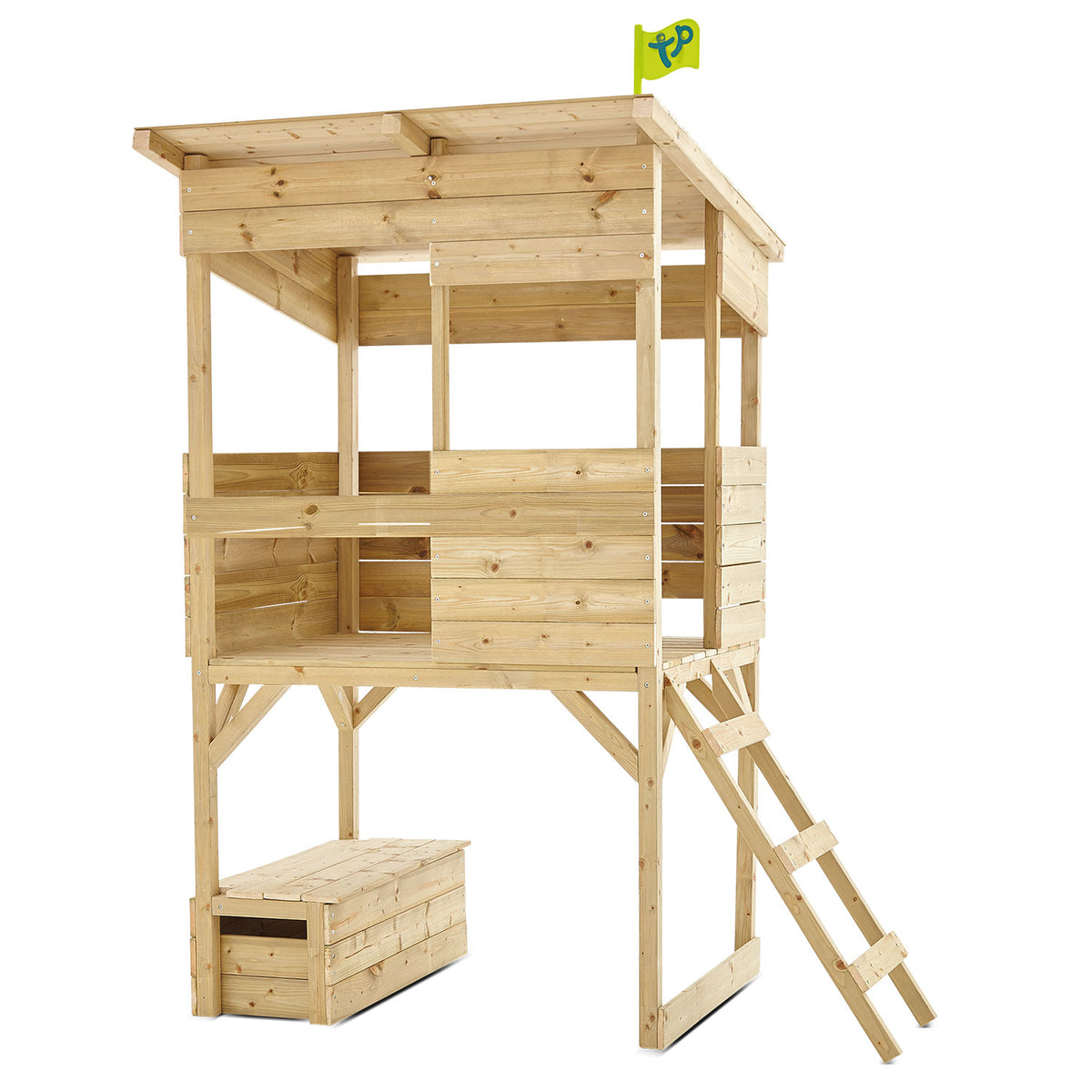 TP Toys Tree Tops Wooden Tower Playhouse with Toy Box