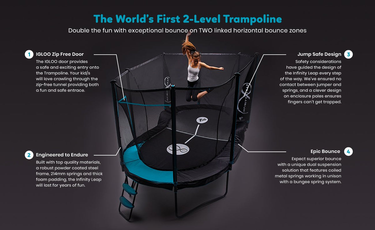 TP Toys Infinity Leap 2-Level Trampoline