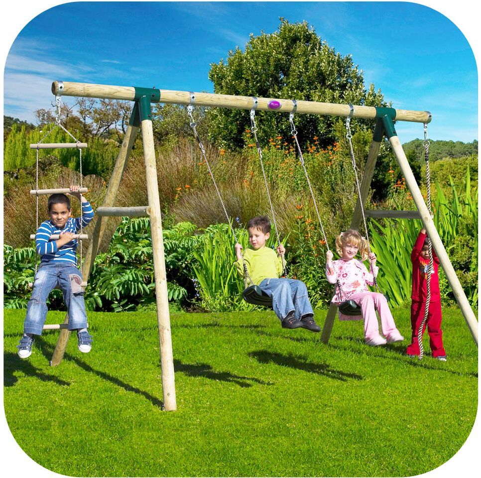 Gibbon Wooden Swing Set