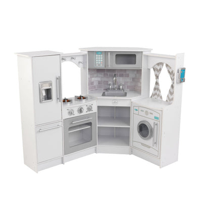 Ultimate Corner Play Kitchen with Lights & Sounds - White by KidKraft
