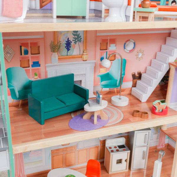 Dahlia Mansion Dollhouse with EZ Kraft Assembly'Ñ¢ by KidKraft