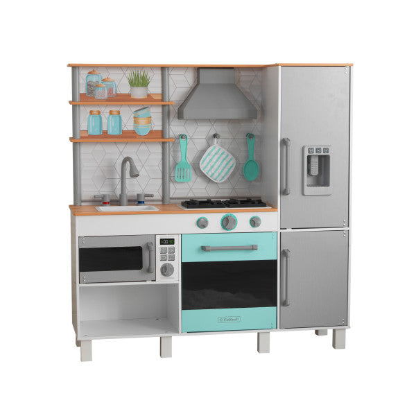 Gourmet Chef Play Kitchen with EZ Kraft Assembly™ by KidKraft