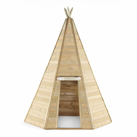 Grand Wooden Teepee Hideaway by Plum Play