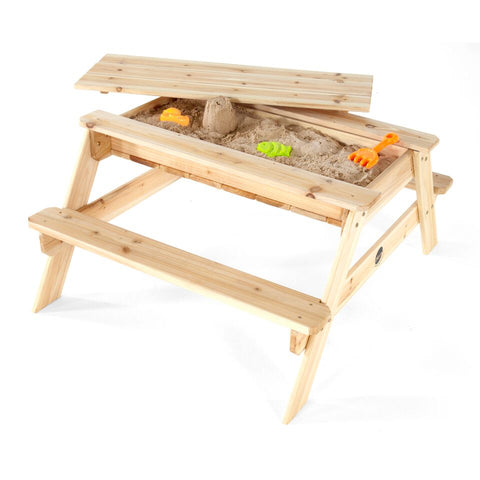 Wooden Sand and Picnic Table by Plum Play
