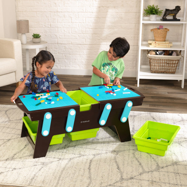 Building Bricks Play N Store Table - Espresso by KidKraft