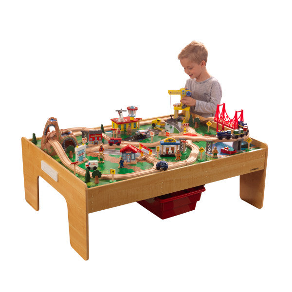 Adventure Town Railway Train Set & Table with EZ Kraft Assembly'Ñ¢ by KidKraft