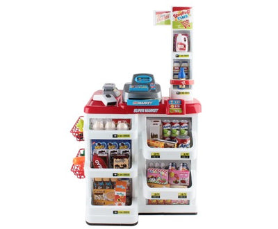 Super Market Toy Set 24 Piece - Red & White by Keezi