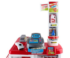 Super Market Toy Set - Red & White 26 Pieces by Keezi