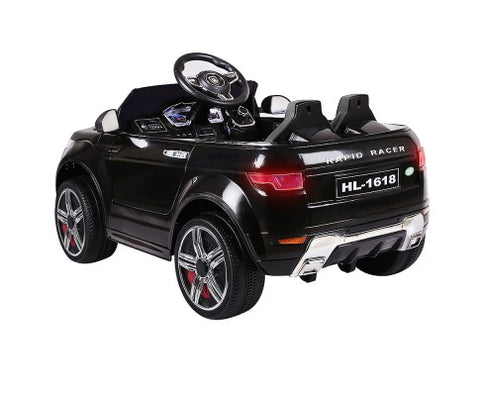 Rigo Kids Ride On Car (Range Rover Evoque Replica) - Black with Free Customized Plate