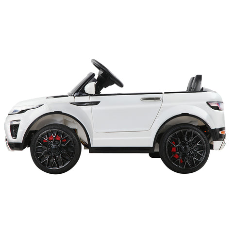 Image of Rigo Kids Ride On Car (Range Rover Evoque Replica) - White with Free Customized Plate
