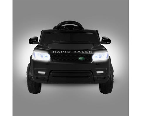 Rigo Kids Ride On Car (Range Rover Replica) - Black with Free Customized Plate