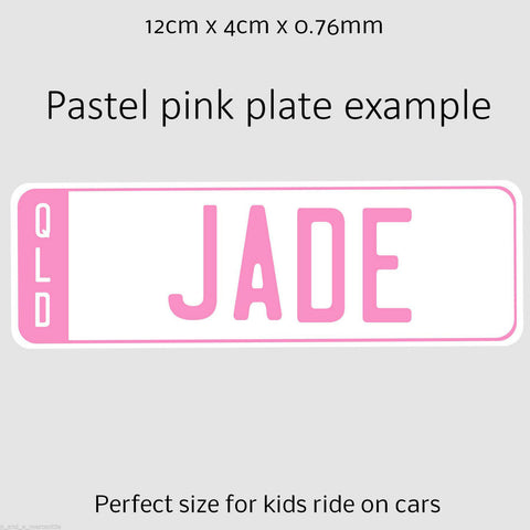Image of Personalised Kids Number Plates