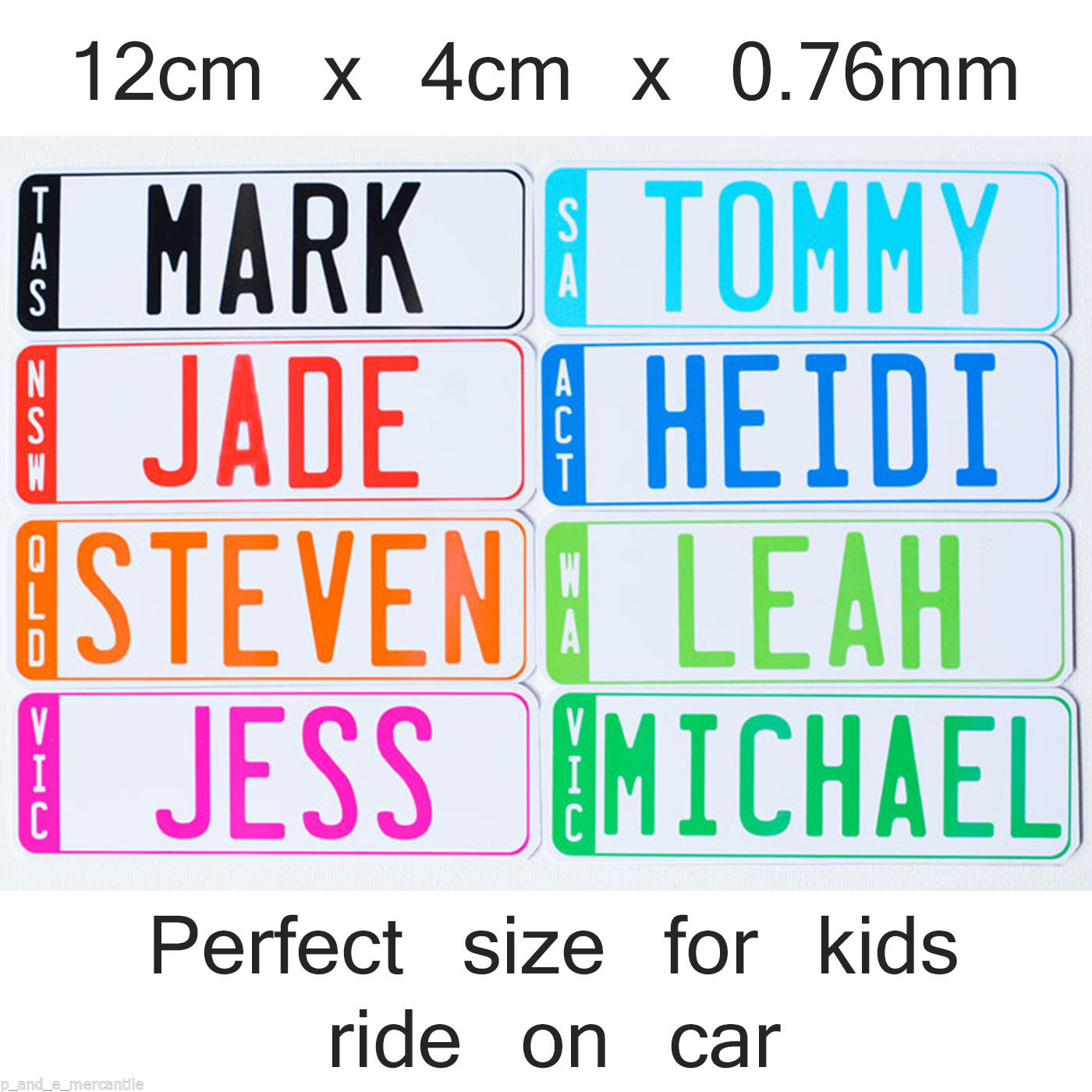 Personalised Kids Number Plates (Set of 2)