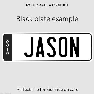 FREE Personalised Kids Number Plates with Every Ride On Toys (Set of 2)
