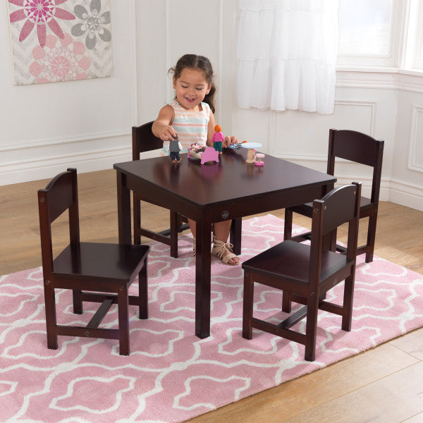 Farmhouse Table & 4 Chair Set - Espresso by Kidkraft