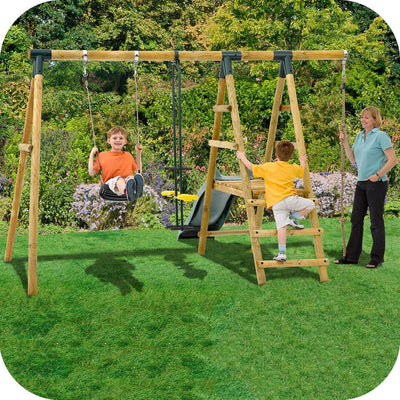 Meerkat Wooden Swing Set