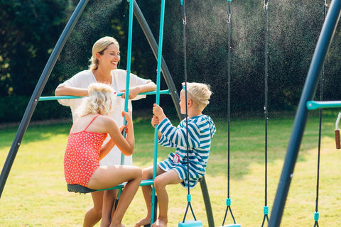 Premium Metal Double Swing & Glider with Mist by Plum Play