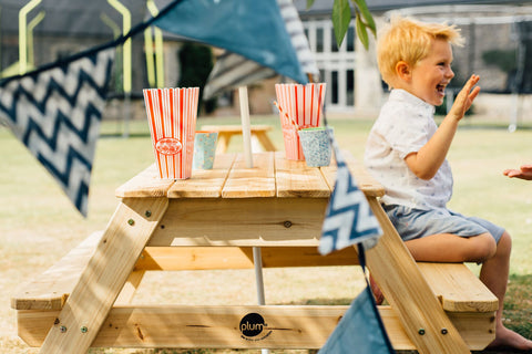 Picnic Table with Umbrella (Natural) by Plum Play