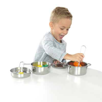 Deluxe Cookware Set with Food by KidKraft