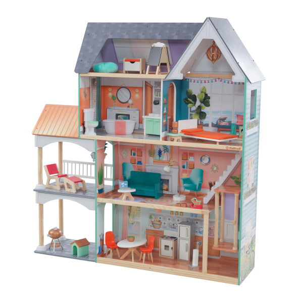 Dahlia Mansion Dollhouse with EZ Kraft Assembly™ by KidKraft