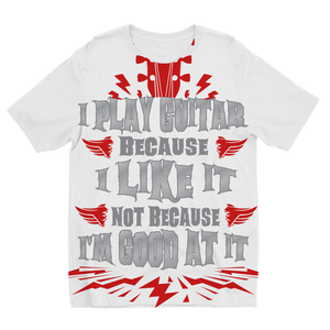 I Play Because I like it - Red Sublimation Kids T-Shirt