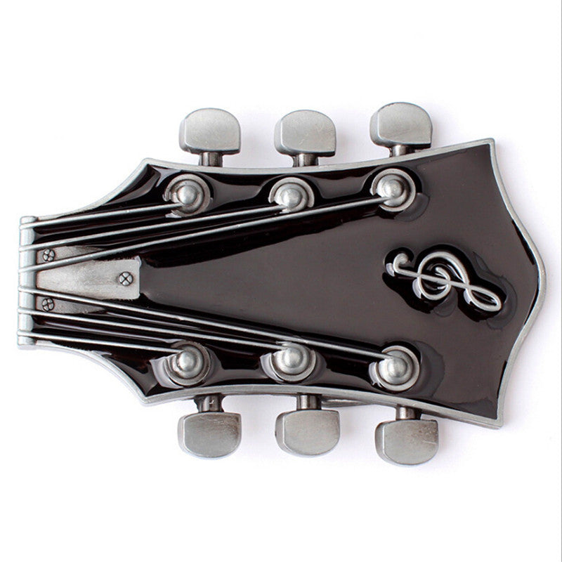 Guitar Metal Belt Buckle - Great Guitar Gifts