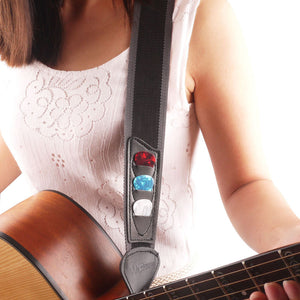 Guitar Strap With Pick Holder - Great Guitar Gifts