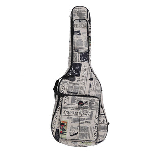 Newspaper Print Guitar Case - Great Guitar Gifts