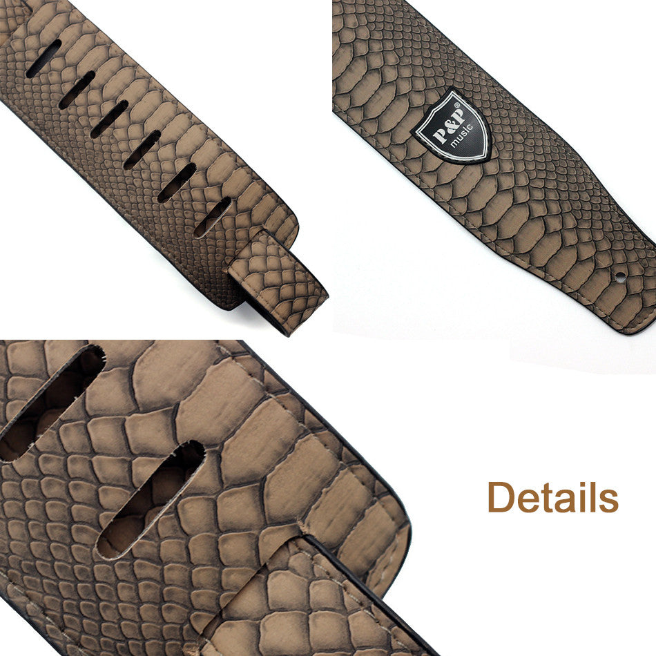 Snake Skin Style Guitar Strap - Great Guitar Gifts