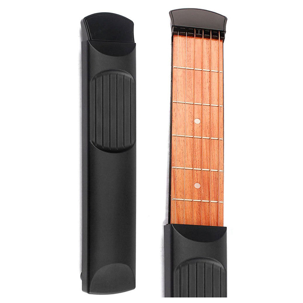 Portable Wooden Pocket Practice Guitar 6 Fret Model - Great Guitar Gifts
