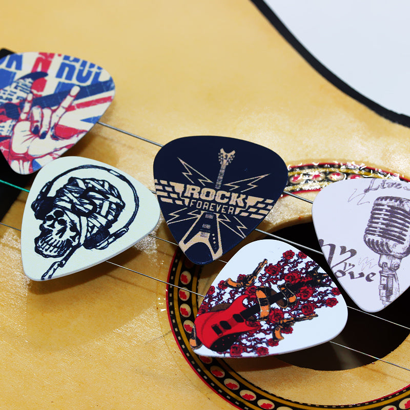 10 Assorted Rock Picks - Great Guitar Gifts