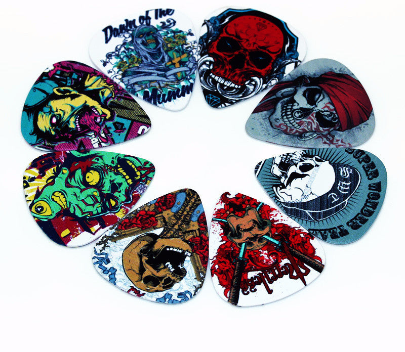 10 Assorted Skull Picks - Great Guitar Gifts