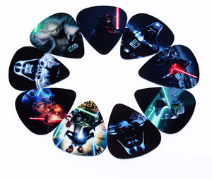 10 Assorted Star Wars Guitar Picks Thickness 0.71mm - Great Guitar Gifts