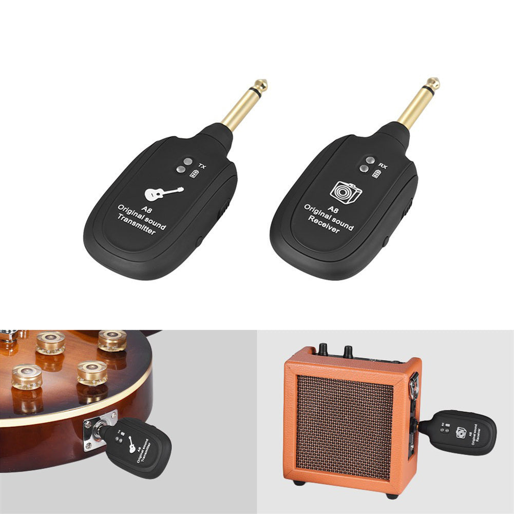 Professional UHF Wireless Guitar Transmitter Receiver System - Great Guitar Gifts