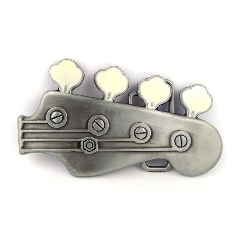 Bass Guitar Head Belt Buckle - Great Guitar Gifts