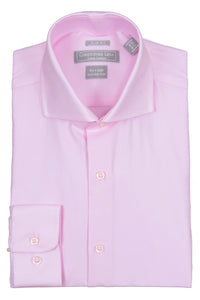 Christopher Lena - Pink -Dress Shirt - 100% Cotton - 80's 2-ply - Wrinkle Free - Slim Fit
