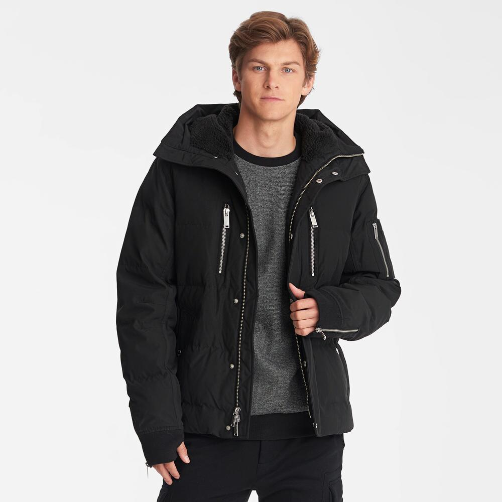 KARL LARGERFELD PARIS - Mid Length Sherpa Lined Puffer