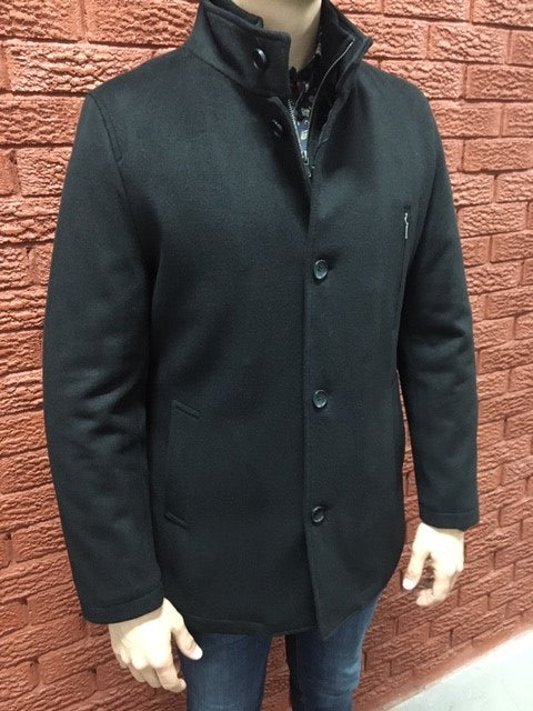 London -  90/10 Wool & Cashmere - Black 3/4  Coat