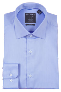 Proper Shirtings - Lavender -100% Cotton - 100's 2-ply - Wrinkle Free - Dress Shirt - Slim Fit