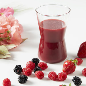 Jus de fruits rouges
