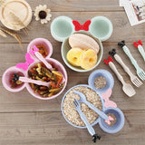 Cute 3 Pcs Bamboo Baby Bowl