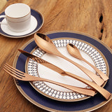 Stainless Steel Cutlery Set - Gold and Rose