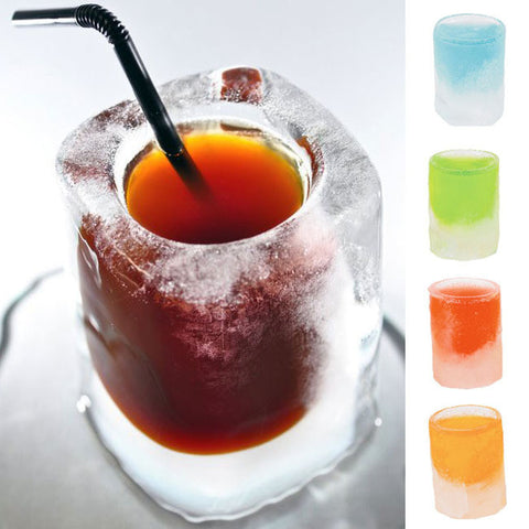 Silicone Ice Cube Shot Glasses Mold Tray