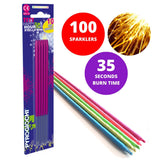 "Bulk Buy 7"" Inch Pink Coated Gold Effect Indoor & Outdoor (18cm) Sparklers (PACK OF 100)"