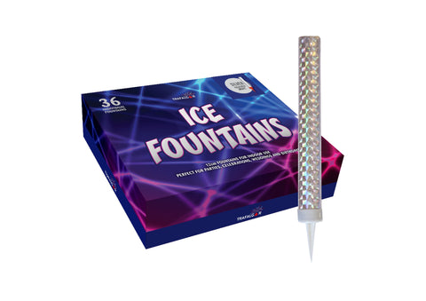 "Ice Fountain Sparklers - Ice Fountains In A Bumper Pack 6"" Inch Indoor Use (PACK OF 36)"