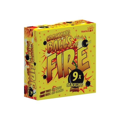 Crackling Balls Of Fire (Pack Of 9)