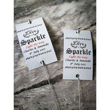 Sparkler Tags - 50 – 150 Custom Tag Wedding Script With Names And Date With Free Sparklers
