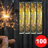 "Sparklers - Bulk Buy 10"" Inch Crackling Effect (25cm) Sparklers (PACK OF 100)"