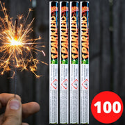 "Bulk Buy 14"" Inch Gold Effect (35cm) Sparklers (PACK OF 100)"